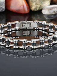 L:22CM W:1CM Stainless Steel 316L Silver Tone Multicolor Biker Link Men Cool Bracelet Christmas Gifts