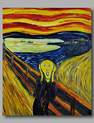 Ready to hang Stretched Hand-painted Oil Painting Canvas Wall Art Edvard Munch repro The Scream One Panel