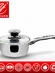 YAWARD 16cm Saucepan Stainless Steel Single Handle Pot Milk Pot Stainless Steel Lib With Thermo-knob