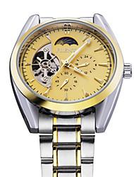 clásicos para hombre Tourbillion 5 manos cinta de acero reloj ejército deporte mecánico automático