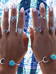 HUALUO®European and American Style Imitation Elephant  Turquoise Ring