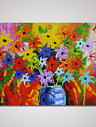 Hand-Painted Modern Abstract Flower Painting on Canvas Landscape Wall Art Unframed
