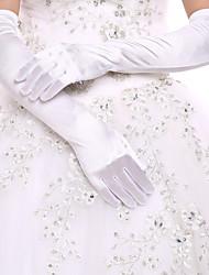 Ópera Com Dedos Luva Elastano Luvas de Noiva Luvas de Festa Primavera Outono Inverno