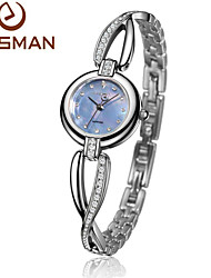 EASMAN Women Watch Crystal Bracelet Natural Seashell Dial Blue Quartz Watch Sapphire Glass Female Wrist watch