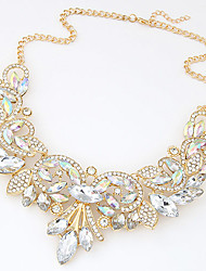 Women's European Style Luxury Shining Metal Exaggeration Necklace