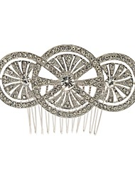 Vintage Hair Comb Hairpins Tiara for Women or Bridal Wedding Party Hair Jewelry Accessories with Rhinestone Crystals
