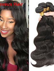 """misturar 3pcs / lot tamanho 8 """"-26"""" brazilian onda do corpo cabelo virgem, cor preta natural, cabelo humano tece matéria-"""