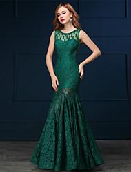 Robe de soirée formelle - trompette sexy / sirène élastique en dentelle avec détails perlés