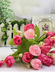 15 Heads fake Flowers rose buds Wedding Spring scenery pearl bract rose buds