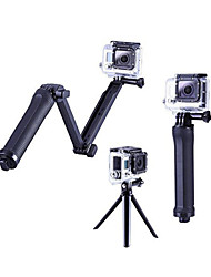 3-Way Adjustable Pivot Arms Tripod Hand Grips/Finger Grooves Adjustable All in One ForAll Gopro Gopro 5 Gopro 4 Gopro 4 Silver Gopro 4