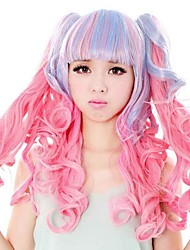 Best Selling Beautiful Mixed Color Straight Cosplay Synthetic Wigs