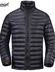 Lesmart Men's Business Casual Warm Winter White Duck Down Weatherproof Packable Light Weight Coat Pluse Sports Outerwear