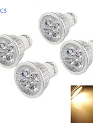 4W GU10 Spot LED A50 4 LED Haute Puissance 400 lm Blanc Chaud Gradable / Décorative AC 110-130 V 4 pièces
