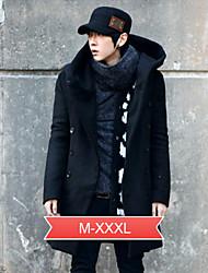 Men's Clothing Winter Slim Medium-long With A Hood Trench Male Wool Woolen Hooded Men Winter Coat Jacket