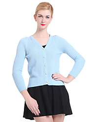 Frauen Casual / Arbeit Langarm Pullover, Strickwaren Medium