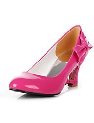 Women's Shoes Patent Leather Wedge Heel Wedges / Heels Heels Wedding / Office & Career / Dress Black / Yellow /