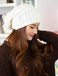 Women Cute Screw Thread Acrylic Beanie Skullies Hats LD00066