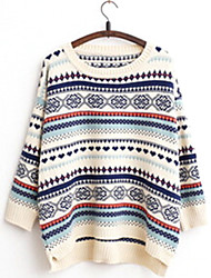 Women's Fashion Casual Striped Cashmere Knit Sweater