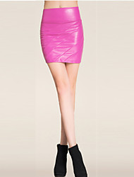 Damen Röcke  -  Sexy / Leger Mini PU Mikro-elastisch