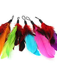 Cat Toy Pet Toys Teaser Feather Toy Candy Multicolor Textile