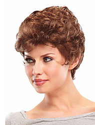 New Stylish Blonde Short Curly Synthetic Hair Wigs Freeshipping