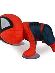 360 degrés de rotation mignon 16cm escalade spiderman voiture ventouse jouet de poupée auto décoration autocollant noir / rouge