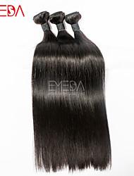 3pcs / lot non transformés soie cheveux eurasienne droites extensions de cheveux humains vierges naturel noir 8 '' - 30 '' tisse les