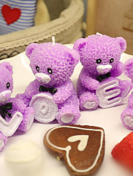 LOVE Bear Kitty Catoon Heart-shaped  Cake Candle for Kid(1pc)