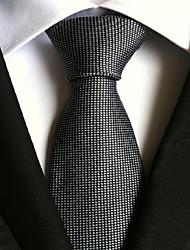 Men Wedding Cocktail Necktie At Work Black Dots