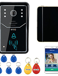ENNIO Touch Key WiFi DoorBell Wireless Video Door Phone Home Intercom System IR RFID  Camera