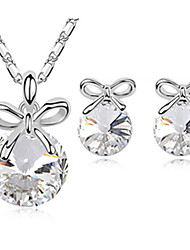 Rita Women's Korean-style High Quality Mosaic Zircon Silver-plated Set