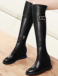 Women's Shoes Synthetic Wedge Heel Snow Boots / Fashion Boots / Motorcycle Boots Boots Party & Evening / Casual Black