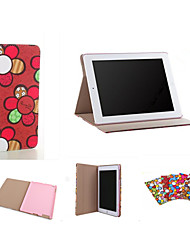 Brand Designer Korea Cute Sunflower Flip Ultra Slim Stand Leather Book Case Smart Cover For  iPad Air