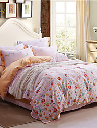 Duoma Reactive Printing 140 Grams Of Heavy Fabric Of American Appropriate Button Series Of Four Pieces Bedding Set