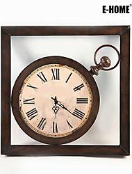 Carré Rétro Horloge murale , Autres Métal 60*60*5CM(24inch*24inch*2inch)*1PC