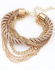 MPL Europe and America fashion woven multi-layer Chain Bracelet