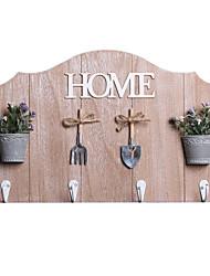 """предметы домашнего обихода бесшовные 4 крючка в 1 ряд """"домой"""" оформлены"""