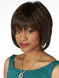 Fabulous Hand Tied Top Virgin Remy Human Hair Female Capless Short Straight Wig