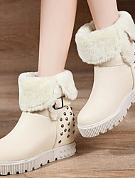 Women's Shoes Synthetic Flat Heel Snow Boots / Fashion Boots Boots Office & Career / Dress / Casual Black / White