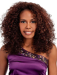 Fashion Africa Explosion in Middle Long Hair Brown Curly Synthetic Wigs