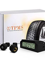 Car Auto TPMS Tire Pressure Monitoring System Wireless 4 Sensors Solar Energy