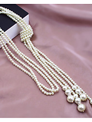 Women's Strands Necklaces Pearl Necklace Pearl Imitation Pearl Alloy Fashion Jewelry Wedding Party Daily Casual 1pc