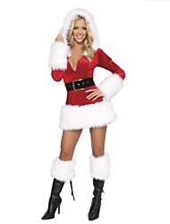 Extravagant Polyester Performance Sexy  Women's Christmas Costume(dress+belt)