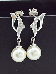 Imitation Pearl / Zircon / Copper Earring Drop Earrings Wedding / Party / Daily / Casual 1set