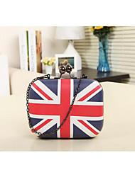The New Shoulder Bag Female Torx Flag Evening Bag Clutch Hand Bag Mini-Packet Shoulder Messenger