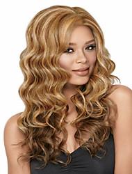 superior en quallity y razonable en las mujeres de precios de color mezcla sintética pelucas onda larga