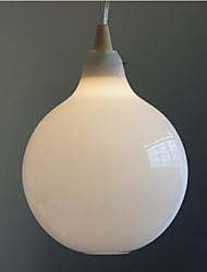 Milk white glass bottle Pendant Lamp Natural Curve C