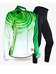 KEIYUEM Cycling Jersey with Tights Women's Long Sleeve BikeWaterproof Breathable Quick Dry Windproof Insulated Rain-Proof Dust Proof