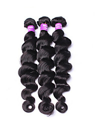 "3Pcs/Lot Brazilian Virgin Hair Loose Wave 8-30""Human Hair Weaves Brazilian Loose Wave Hair Extensions"