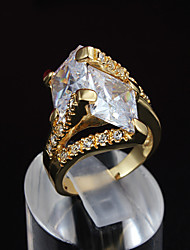 Fashion New Luxury Ring 18K Gold CZ stone Ring For Woman& Lady